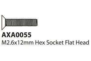 Axial AXIC1055 / AXA0055 Flachkopfschraube M2.6x12mm...