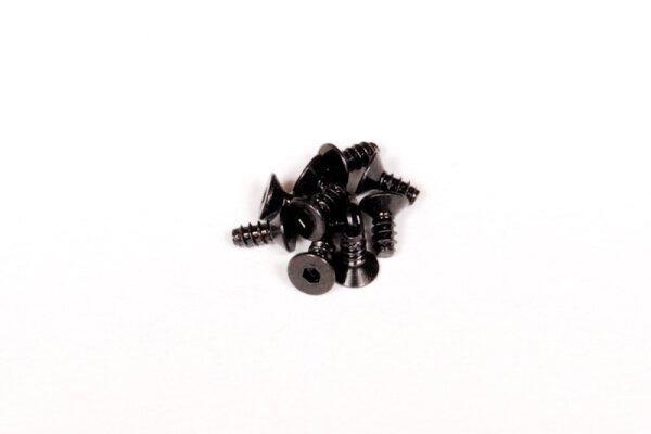 Axial AXIC0002 / AXA0412 Sechskantgewindeschraube M2.6x6mm Schwarz (10)