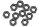 Axial AXIC1040 / AXA1040 Dünne Sechskantmutter M3 Schwarz (10)