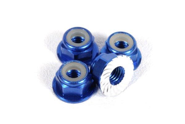 Axial AXIC1046 / AXA1046 Radmutter M4 geriffelt blau (4)