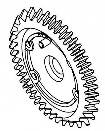 Robitronic R30064 Differential Hauptzahnrad