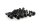 Axial AXIC0127 / AXA464 Innensechskant-Gewindebohrer Flachkopf M3x8mm Schwarz (10)