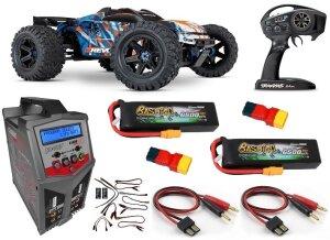 Traxxas 86086-4 Sparset 7 E-Revo V2 Brushless 4WD 2.4GHz...