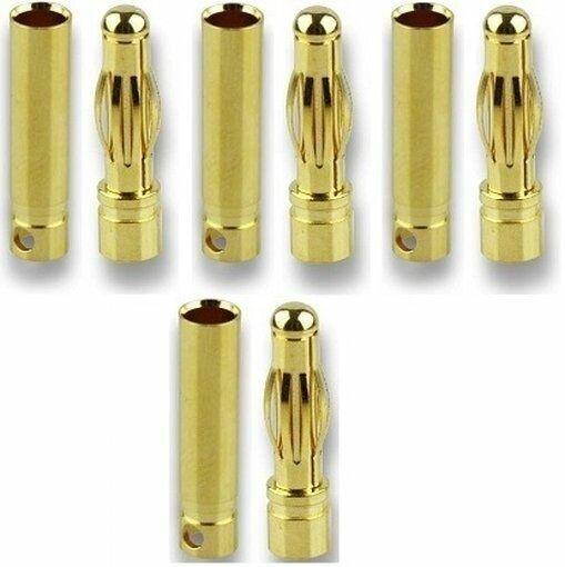 GForce GF-1000-006 Goldkontakte High-End Qualität mit Lötloch 4.0mm (4 Paar)