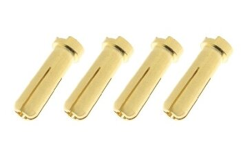 GForce GF-1000-014 Goldkontakte Stecker 5.0mm 4 Stk.
