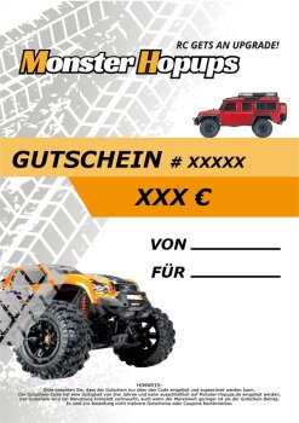 Monster-Hopups Gutschein im Wert von 25 EUR
