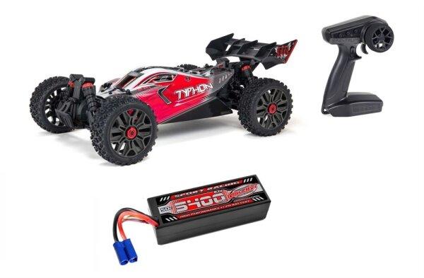 Arrma ARA4306V3 1/8 TYPHON 4X4 V3 3S BLX Brushless Buggy RTR Sparset 2 mit Hardcase LiPo
