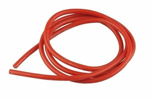 Yuki Model 600164 Silikonkabel 2,5mm x 1m rot