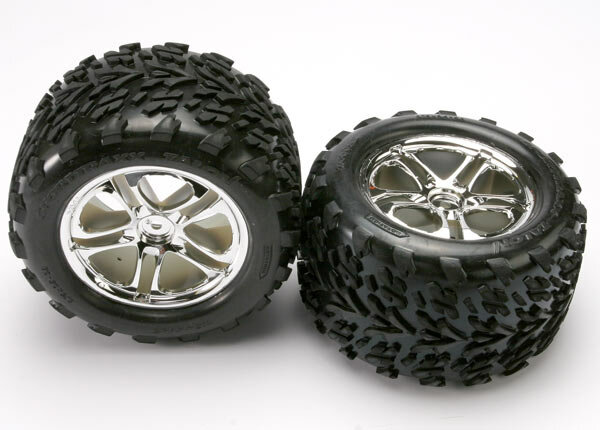 Traxxas TRX5174 Reifen-Wheels Assembled SS Chrome 14mm...
