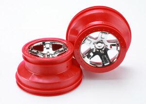 Traxxas TRX5868 SCT Felge Beadlock-Style 2.2 chrom-rot (2...